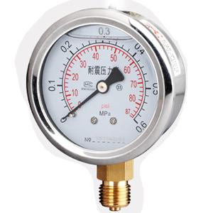 耐震充油压力表
